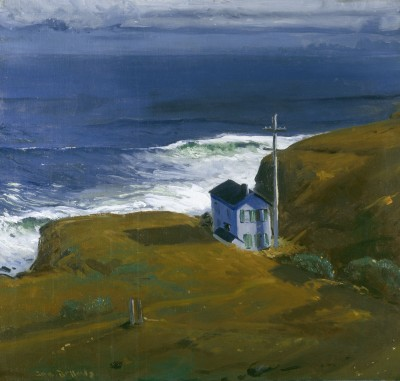 "George Bellows, ""Shore House,"" 1911. Oil on canvas, 40 x 42 inches. Private collection."
