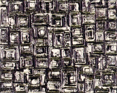 "Lee Krasner, ""Black and White Squares, No. 1,"" 1948."