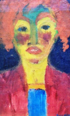 "Emil Nolde, ""Red-Haired Girl,"" 1919."