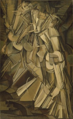 "Marcel Duchamp, ""Nu descendant un escalier no. 2,"" 1912. Philadelphia Museum of Art."