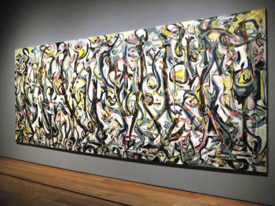 Pollock's mural at the Getty Center Photograph by Roy Nicholson