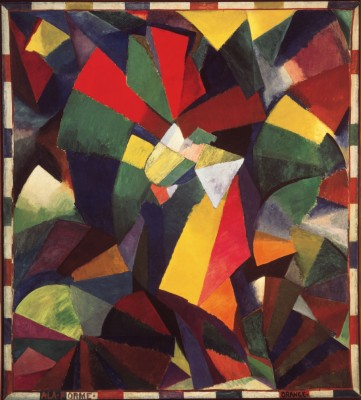 "Synchromy in Orange: To Form, 1913-14. Oil on canvas, 11' 3"" x 10' 1 1/2"" Albright-Knox Art Gallery Buffalo, New York. Gift of Seymour H. Knox, Jr. Morgan"