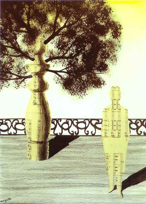 Rene Magritte, untitled collage, 1926
