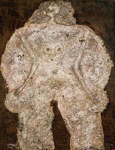 "Jean Dubuffet, ""Corps de dame--Chateau d'Etoupe,"" 1950. Oil on canvas."