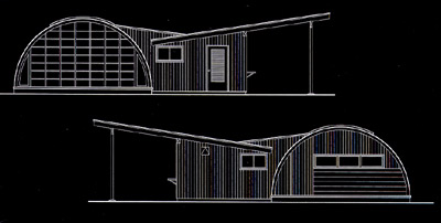 Plan of the Motherwell studio, 1946, with residential addition by Robert Rosenberg, 1956.