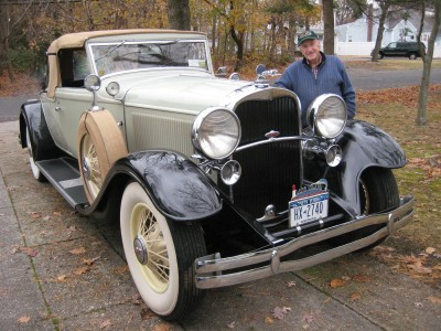 William McCleery with the restored car, November 2014.