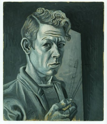 Charles Pollock, Self-Portrait, 1930s. Pencil and gouache on paper.