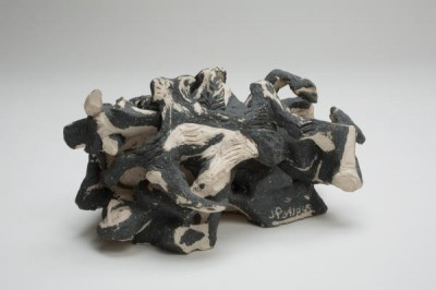 "Anuntitled ceramic sculpture by Pollock, ca. 1949-50, on view in the ""Blind Spots"" exhibition in Dallas."
