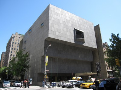 The Whitney's former home on Madison Avenue, designed by architect Marcel Breuer.