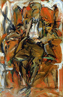 Willem de Kooning, ca. 1952. Oil on panel, 38 5/8 x 25 ½ inches. National Portrait Gallery, Smitnsonian Institution.