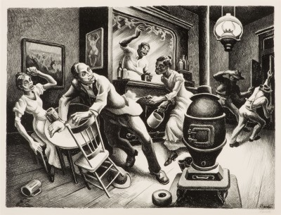 "Thomas Hart Benton, ""Frankie and Johnny,"" 1936. Lithograph."