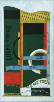 Stuart Davis (1892-1964), Lucky Strike, 1921. Oil on canvas, 33 ¼ x 18 in. The Museum of Modern Art, New York.