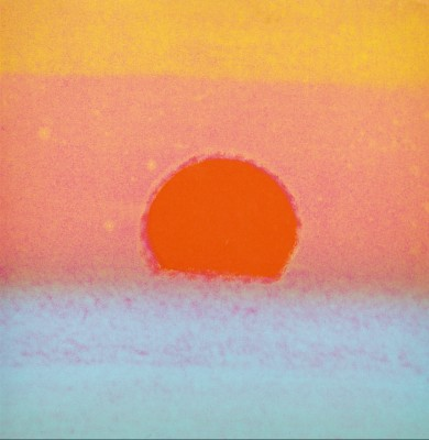 Andy Warhol, Sunset, 1972. Screen print, 34 x 34 inches.