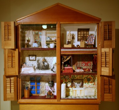 """The Dollhouse,"" 1972. Wood and mixed media (detail)."